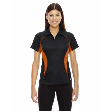 North End Sport Red 78657 Ladies' Serac UTK cool.logik Performance Zippered Polo