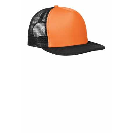 District DT624 Flat Bill Snapback Trucker Cap