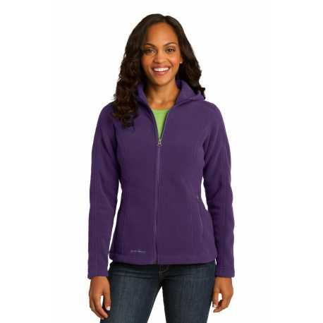 Eddie Bauer EB206 Ladies Hooded Full-Zip Fleece Jacket