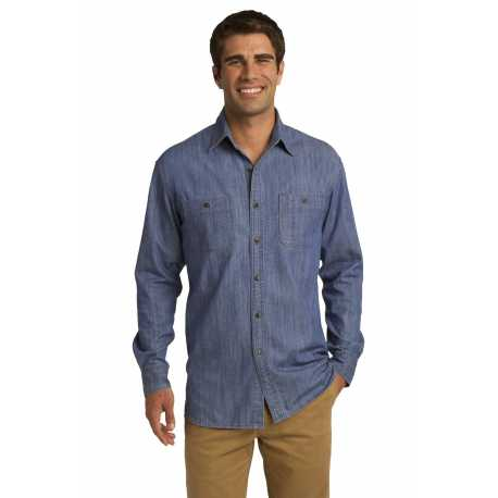 Port Authority S652 Patch Pockets Denim Shirt