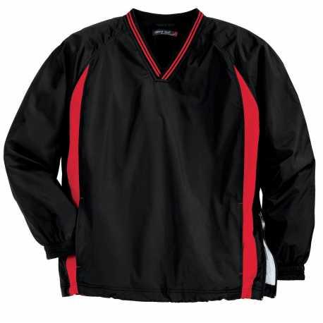Sport-Tek TJST62 Tall Tipped V-Neck Raglan Wind Shirt