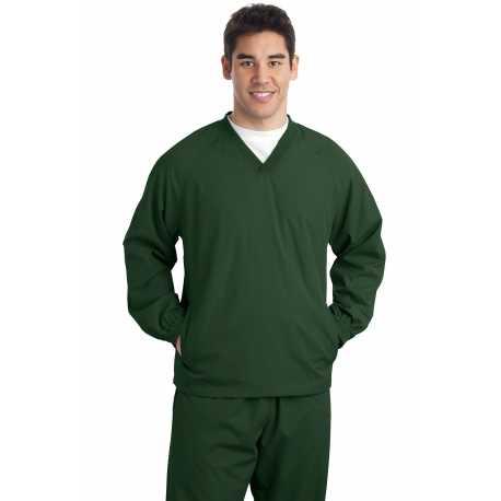 Sport-Tek TJST72 Tall V-Neck Raglan Wind Shirt