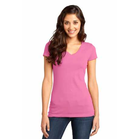 District DT6501 Juniors Very Important Tee V-Neck