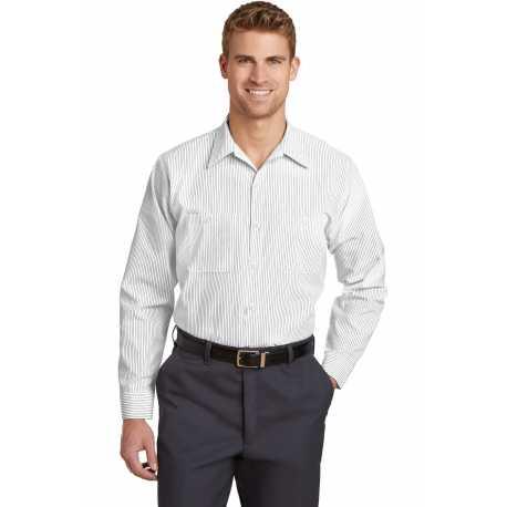 Red Kap CS10LONG Long Size Long Sleeve Striped Industrial Work Shirt