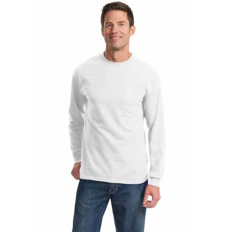 Port & Company PC61LSPT Tall Long Sleeve Essential Pocket Tee