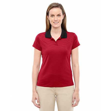 Adidas Golf A120 Ladies' climalite Classic Stripe Short-Sleeve Polo