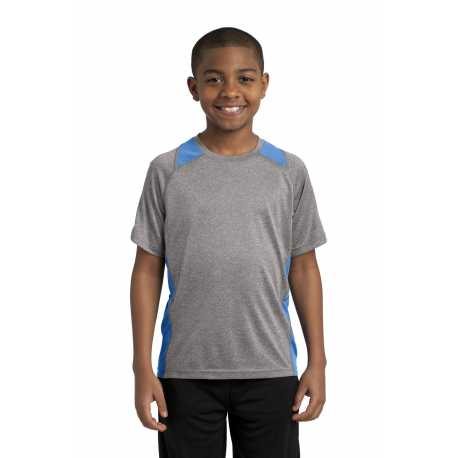 Sport-Tek YST361 Youth Heather Colorblock Contender Tee