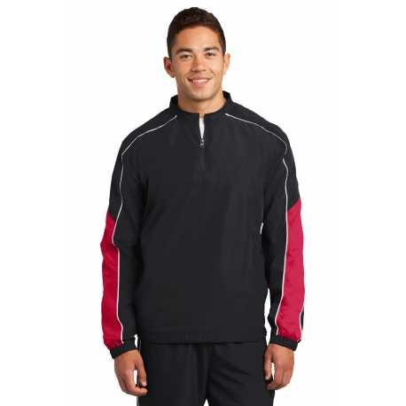 Sport-Tek JST64 Piped Colorblock 1/4-Zip Wind Shirt