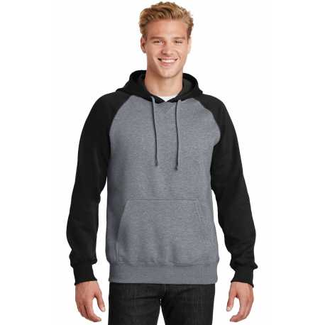 Sport-Tek ST267 Raglan Colorblock Pullover Hooded Sweatshirt
