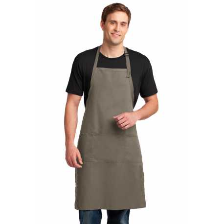 Port Authority A700 Easy Care Extra Long Bib Apron with Stain Release