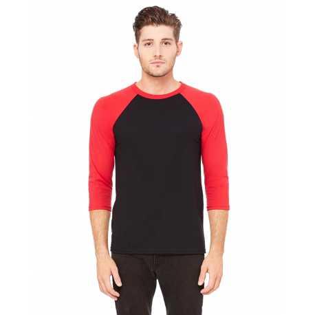 Bella + Canvas 3200 Unisex 3/4-Sleeve Baseball T-Shirt