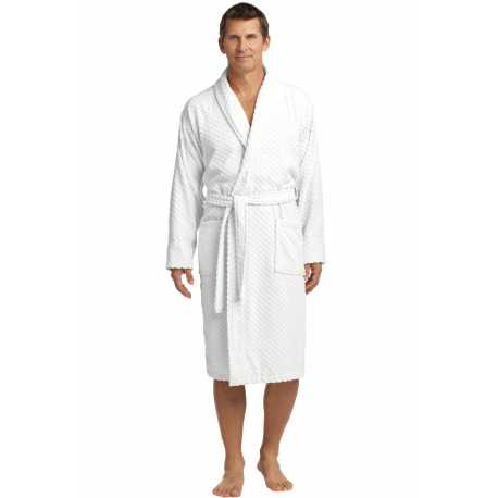 Port Authority R103 Checkered Terry Shawl Collar Robe