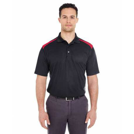UltraClub 8215 Adult Cool & Dry Two-Tone Mesh Pique Polo
