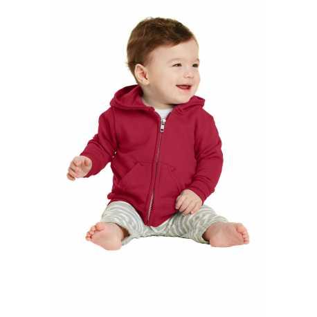Port & Company CAR78IZH Infant Core Fleece Full-Zip Hooded Sweatshirt