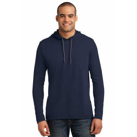 Anvil 987 100% Combed Ring Spun Cotton Long Sleeve Hooded T-Shirt