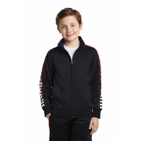 Sport-Tek YST93 Youth Dot Sublimation Tricot Track Jacket