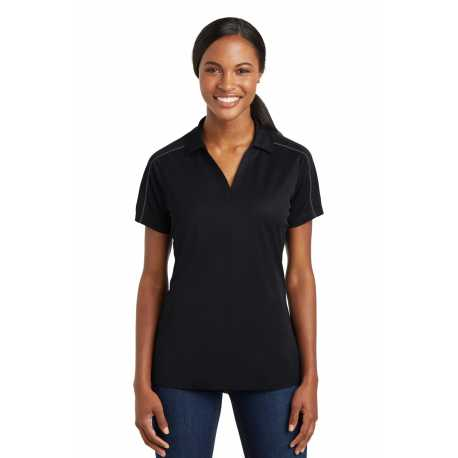 Sport-Tek LST653 Ladies Micropique Sport-Wick Piped Polo