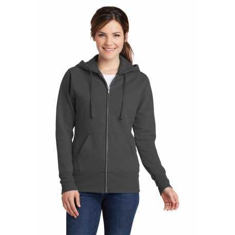 Port & Company LPC78ZH Ladies Core Fleece Full-Zip Hooded Sweatshirt