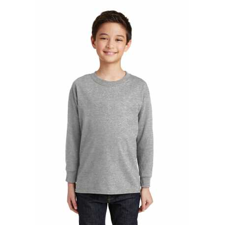 Gildan 5400B Youth Heavy Cotton 100% Cotton Long Sleeve T-Shirt