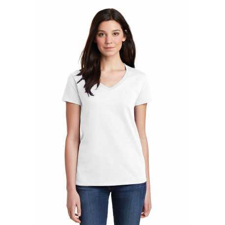 Gildan 5V00L Ladies Heavy Cotton 100% Cotton V-Neck T-Shirt