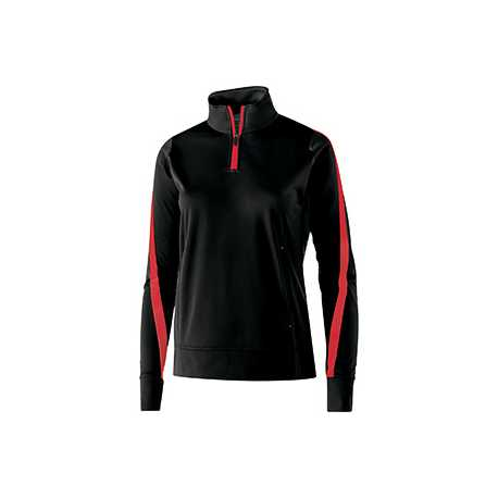 Holloway 229392 Ladies' Polyester 1/4 Zip Determination Pullover
