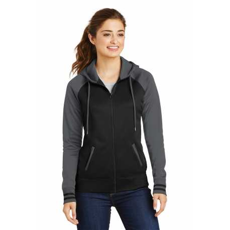 Sport-Tek LST236 Ladies Sport-Wick Varsity Fleece Full-Zip Hooded Jacket