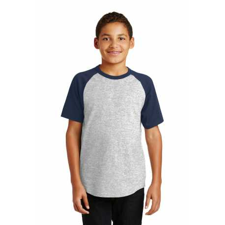 Sport-Tek YT201 Youth Short Sleeve Colorblock Raglan Jersey