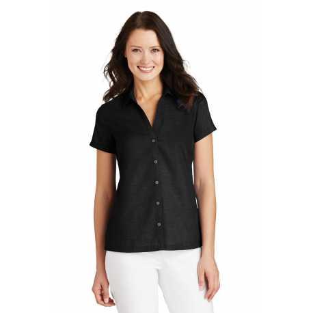 Port Authority L662 Ladies Textured Camp Shirt