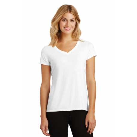 District Made Made DM1350L Made Ladies Perfect Tri V-Neck Tee