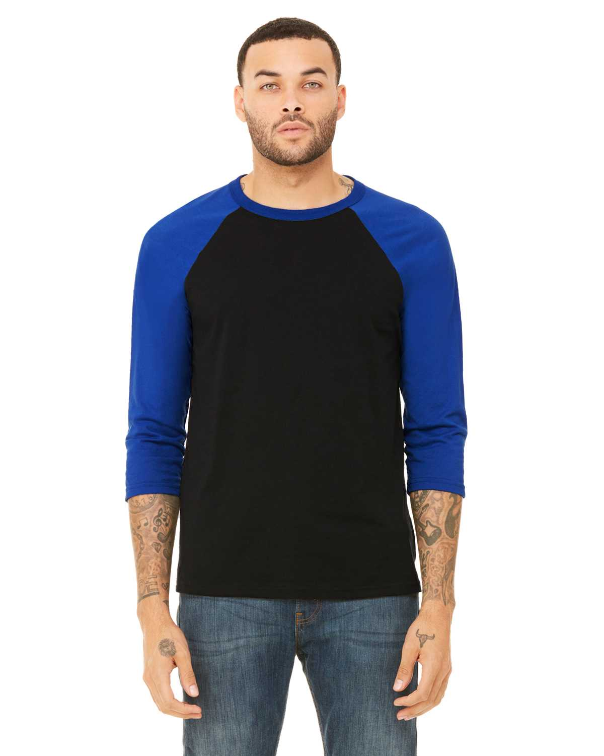7958619ab4d2a Men Bella + Canvas 3200 Unisex 3 4-Sleeve Baseball T-Shirt. 3200 CE z View  larger. Previous. 3200 CE z ...
