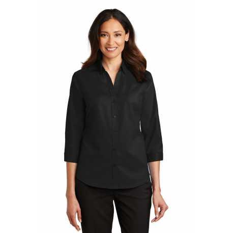 Port Authority L665 Ladies 3/4-Sleeve SuperPro Twill Shirt