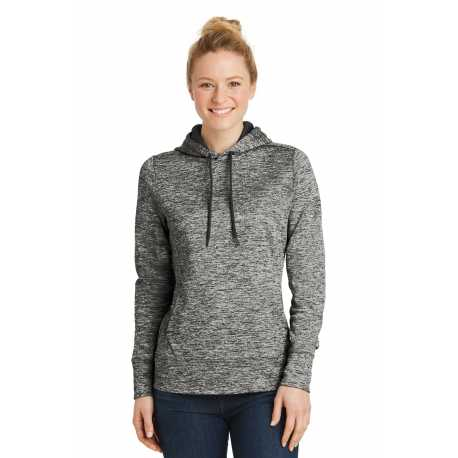 Sport-Tek LST225 Ladies PosiCharge Electric Heather Fleece Hooded Pullover