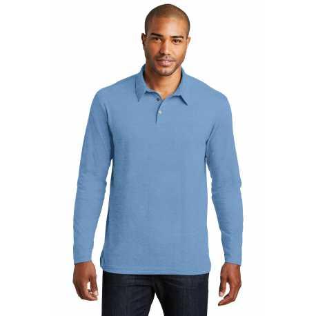 Port Authority K577LS Long Sleeve Meridian Cotton Blend Polo