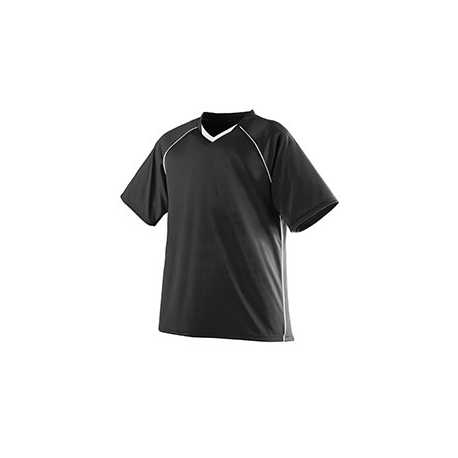 Augusta Sportswear 215 Youth Wicking Polyester V-Neck Jersey with Contrast Piping