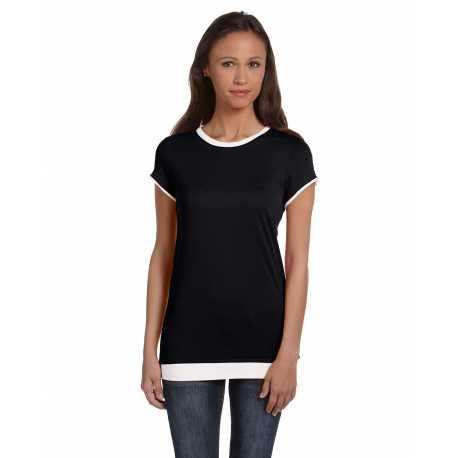 Bella + Canvas B8102 Ladies' Sheer Jersey Short-Sleeve 2-in-1 T-Shirt