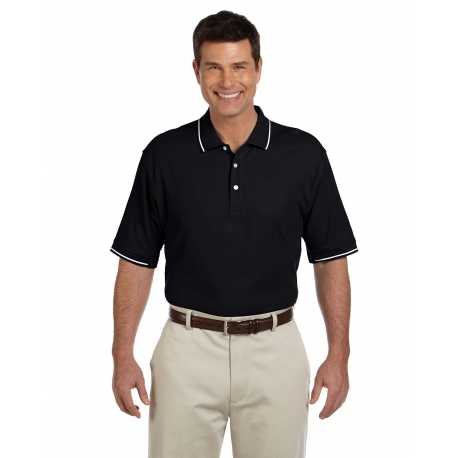 Devon & Jones D113 Men's Pima Pique Short-Sleeve Tipped Polo