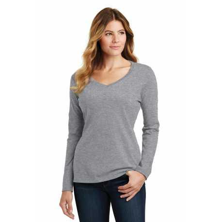 Port & Company LPC450VLS Ladies Long Sleeve Fan Favorite V-Neck Tee