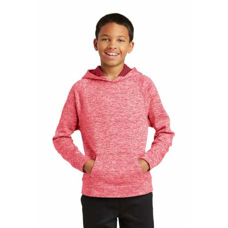 Sport-Tek YST225 Youth PosiCharge Electric Heather Fleece Hooded Pullover