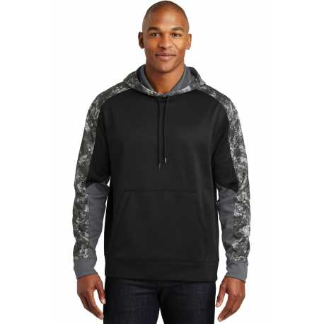 Sport-Tek ST231 Sport-Wick Mineral Freeze Fleece Colorblock Hooded Pullover
