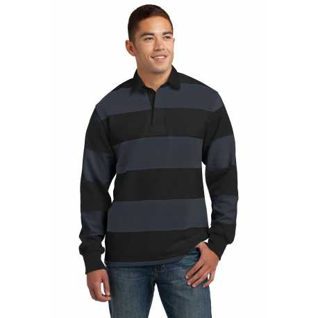 Sport-Tek ST301 Classic Long Sleeve Rugby Polo