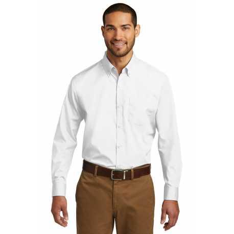 Port Authority W100 Long Sleeve Carefree Poplin Shirt