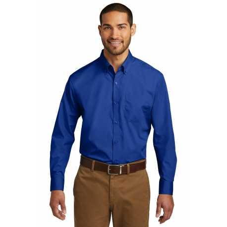 Port Authority TW100 Tall Long Sleeve Carefree Poplin Shirt