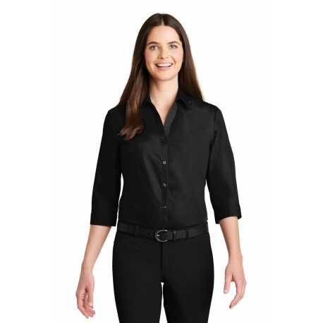 Port Authority LW102 Ladies 3/4-Sleeve Carefree Poplin Shirt