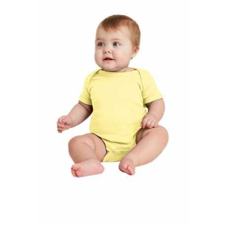 Rabbit Skins RS4400 Infant Short Sleeve Baby Rib Bodysuit