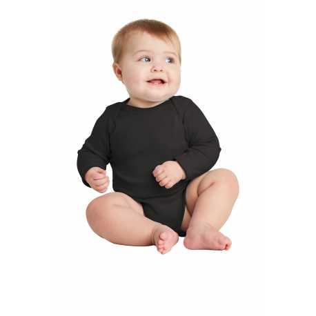 Rabbit Skins RS4411 Infant Long Sleeve Baby Rib Bodysuit