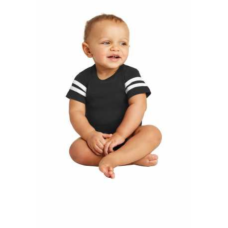 Rabbit Skins RS4437 Infant Football Fine Jersey Bodysuit