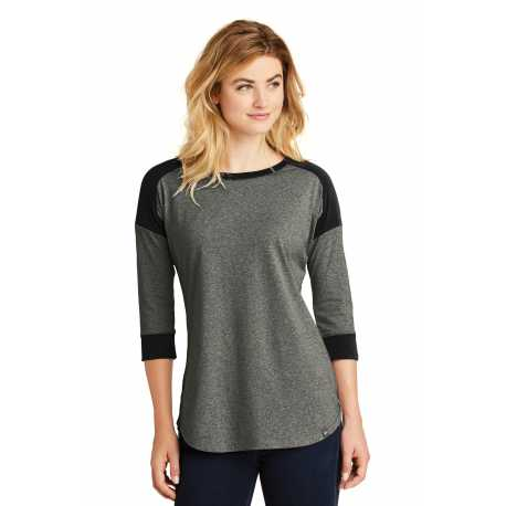 New Era LNEA104 Ladies Heritage Blend 3/4-Sleeve Baseball Raglan Tee