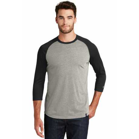 New Era NEA104 Heritage Blend 3/4-Sleeve Baseball Raglan Tee
