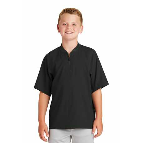 New Era YNEA600 Youth Cage Short Sleeve 1/4-Zip Jacket