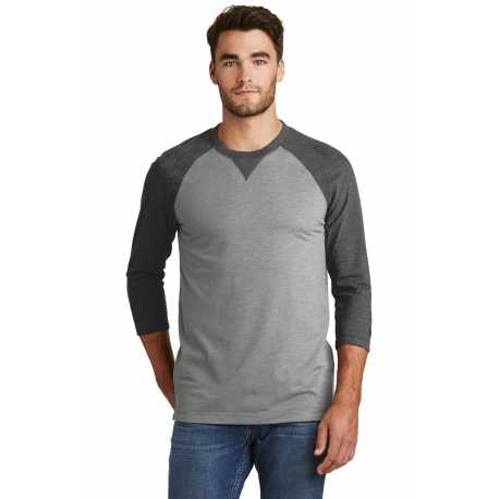 New Era NEA121 Sueded Cotton 3/4-Sleeve Baseball Raglan Tee